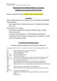 Einführung in das Islamische Recht