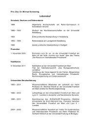 Werdegang - Institut für ausländisches und internationales Privat