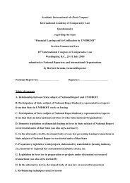 Académie Internationale de Droit Comparé International Academy of ...