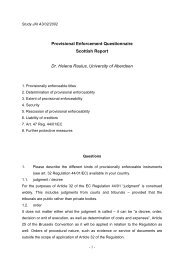 Provisional Enforcement Questionnaire Scottish Report Dr. Helena ...