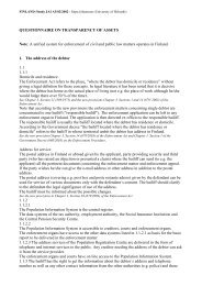 QUESTIONNAIRE ON TRANSPARENCY OF ASSETS Note: A ...