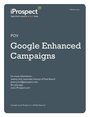 POV: Google Enhanced Campaigns (PDF) - iProspect