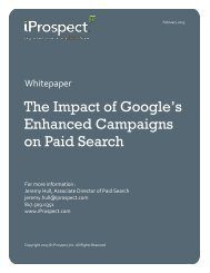 Impact of Enhanced Campaigns on Paid Search ... - iProspect