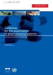 Guidelines for the examination of pharmaceutical patents