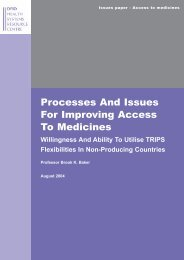 Processes and issues for improving access to ... - IPRsonline.org