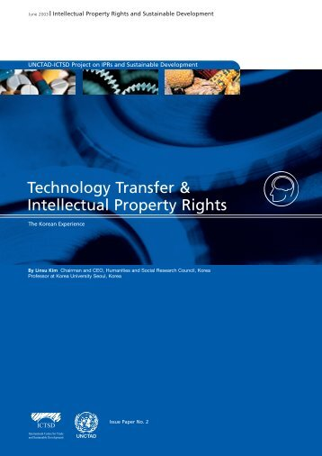 Technology Transfer & Intellectual Property Rights - IPRsonline.org
