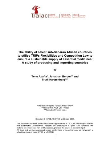 The ability of select sub-Saharan African countries ... - IPRsonline.org