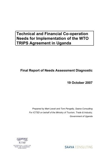 IPRTA Needs Assessment for Government of Uganda - IPRsonline.org