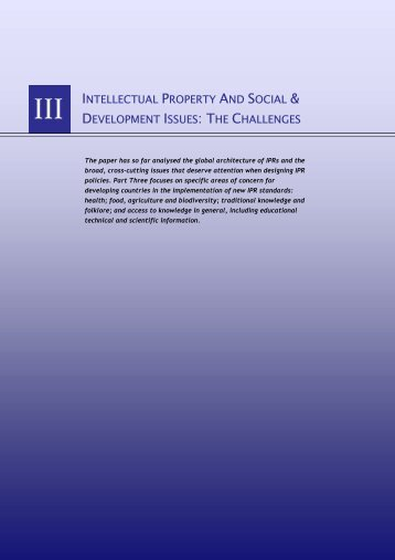 intellectual property and social & development ... - IPRsonline.org