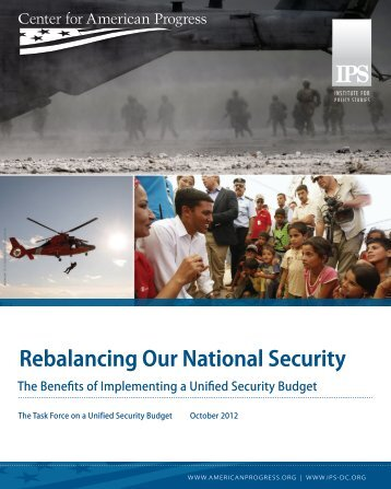 Rebalancing Our National Security - Institute for Policy Studies