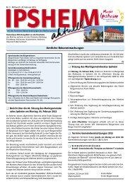 Ausgabe vom 20.02.2013 - Markt Ipsheim