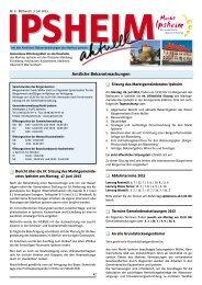 Ausgabe vom 03.07.2013 - Markt Ipsheim