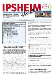 Ausgabe vom 12.06.2013 - Markt Ipsheim