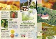 Flyer für den Wein-Wander-Tag 2013 - Markt Ipsheim