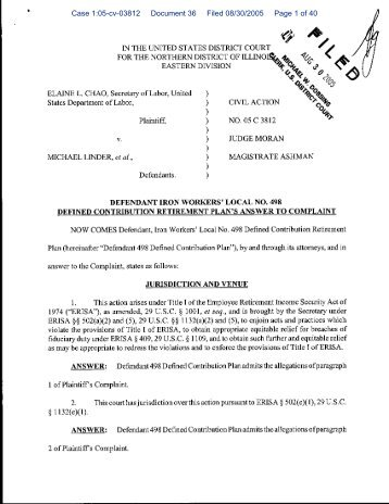 Case 1:05-cv-03812 Document 36 Filed 08/30/2005 Page 1 of 40