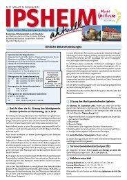 Ausgabe vom 25.09.2013 - Markt Ipsheim