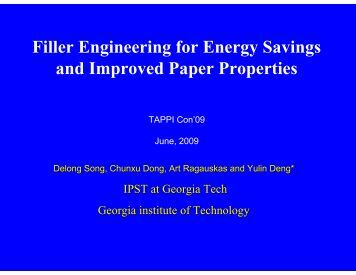 Filler Engineering for Energy Savings and Improved Paper Properties