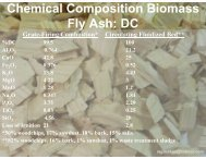 Chemical Composition Biomass Fly Ash: DC