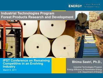 Industrial Technologies Program Forest Products Research and ...