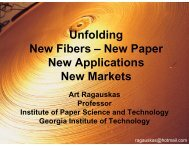 Unfolding New Fibers - Institute of Paper Science and Technology ...