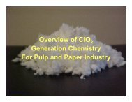 Overview of ClO Generation Chemistry For Pulp and Paper Industry