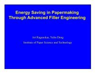 Energy Saving in Papermaking Through Advanced Filler Engineering