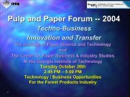 O - Institute of Paper Science and Technology - Georgia Institute ...