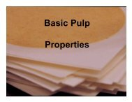 Basic Pulp Properties