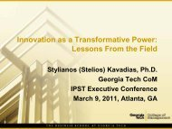 Innovation as a Transformative Power: Lessons From the Field
