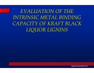 Metal Binding Properties of Kraft Lignin