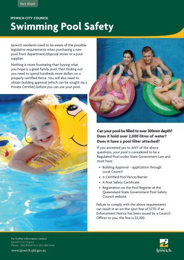 Fact Sheet Swimming Pool Safety - Ipswich City Council