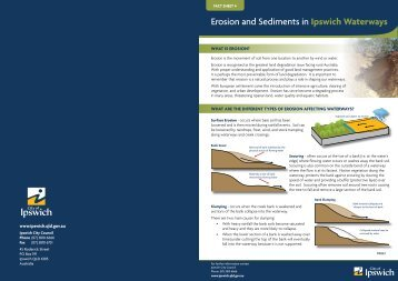 Fact Sheet 4 - Erosion and Sediments in Ipswich Waterways