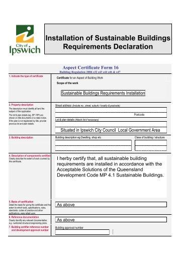 Declaration - Sound Insulation Requirements (PDF, 133 kb)