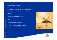 Ormen Lange and Langeled - NTNU
