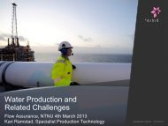 Water Production and Related Challenges - NTNU