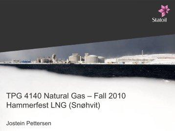 TPG 4140 Natural Gas 2010 Hammerfest LNG (Snøhvit)