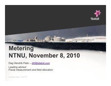 Metering NTNU, November 8, 2010