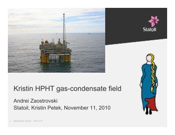 Kristin HPHT gas-condensate field