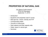 PROPERTIES OF NATURAL GAS - NTNU