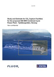 for the proposed 800 MW Combined Cycle Power Plant ...