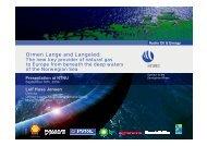 Ormen Lange and Langeled: - NTNU