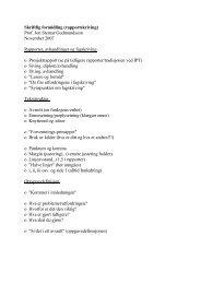 Skriftlig formidling (rapportskriving) Prof. Jon Steinar Gudmundsson ...