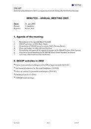 DIGOP MINUTES – ANNUAL MEETING 2003 1. Agenda of ... - NTNU