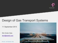 Design of Gas Transport Systems - NTNU