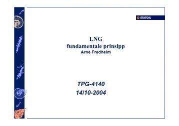 LNG fundamentale prinsipp TPG-4140 14/10-2004