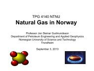 Natural Gas in Norway