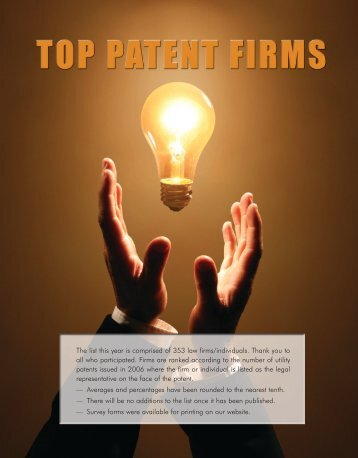 Top Patent Firms - Intellectual Property Today