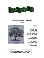 Informationsblatt der CDU Meckenheim - CDU Ortsverband ...