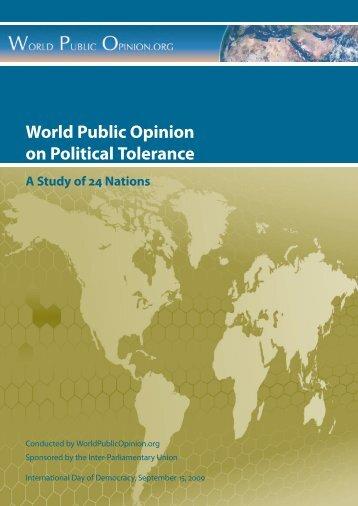 World Public Opinion on Political Tolerance - Inter-Parliamentary ...