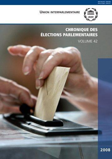 CHRONIQUE DES ÉLECTIONS PARLEMENTAIRES